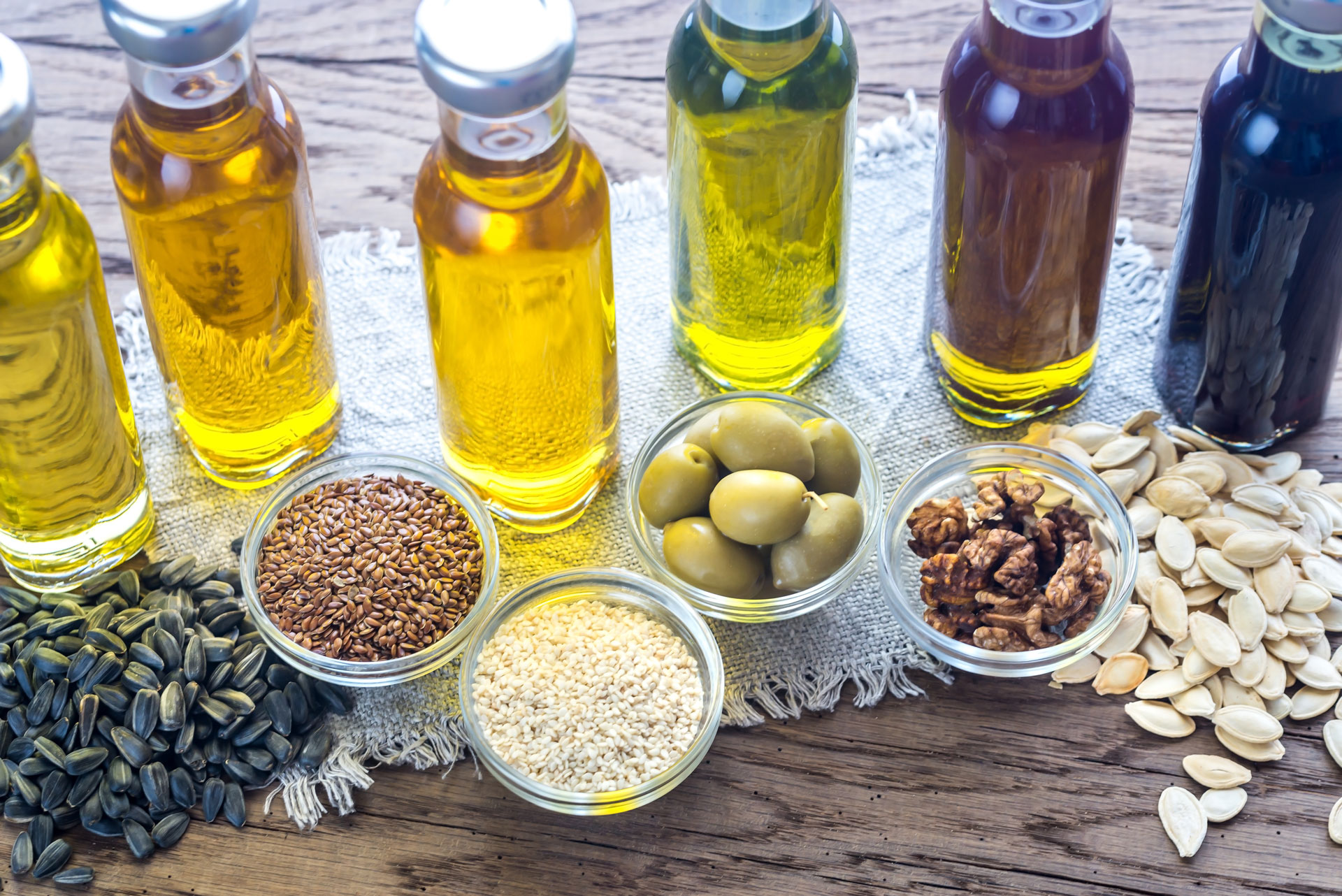 Different types of cooking oils