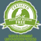 SCS Pesticide Residue Free Label