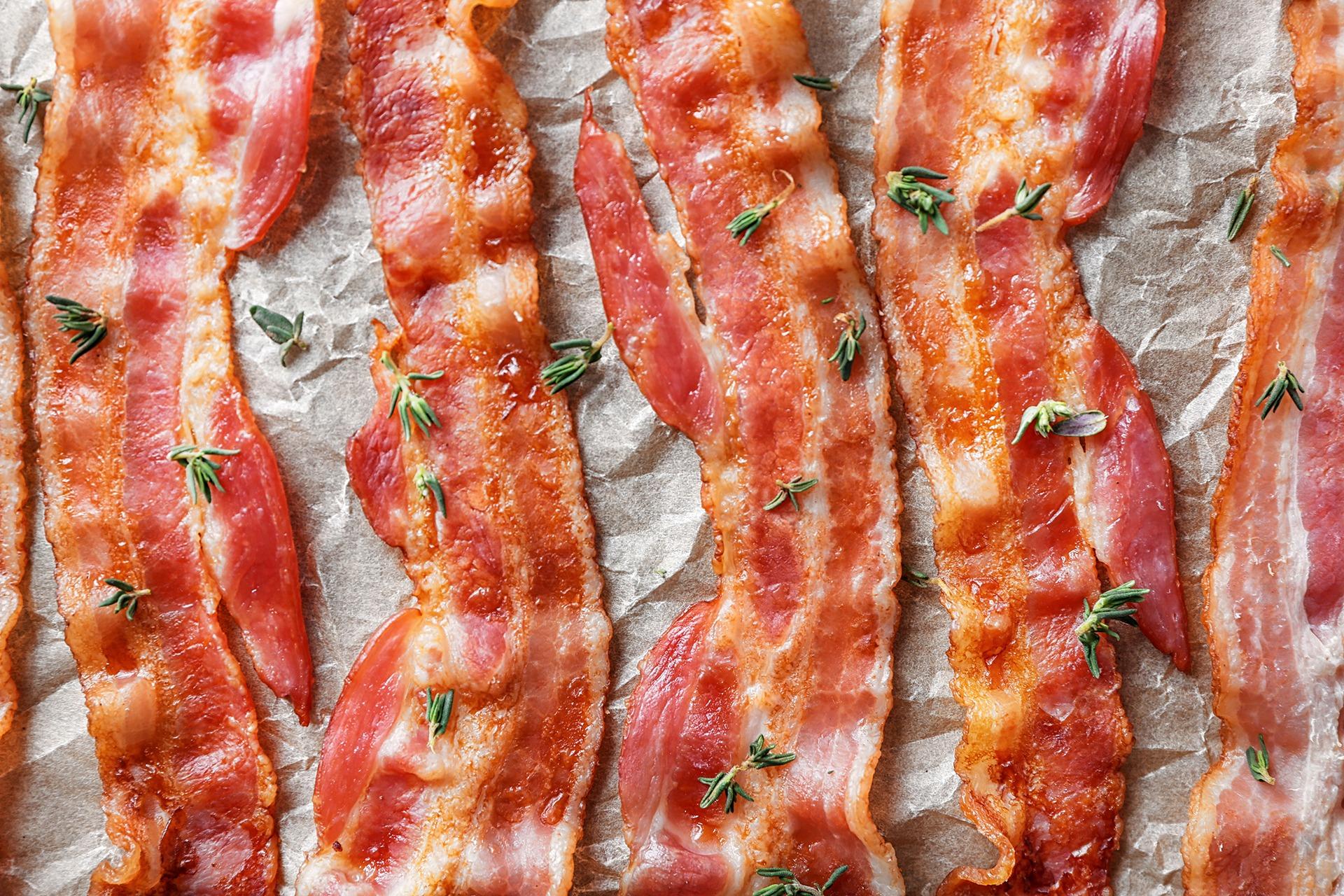 tasty fried bacon