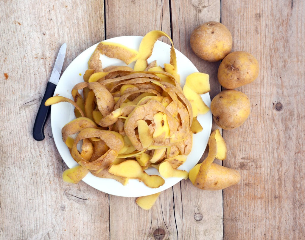 Potato peels have many uses in zero waste cooking