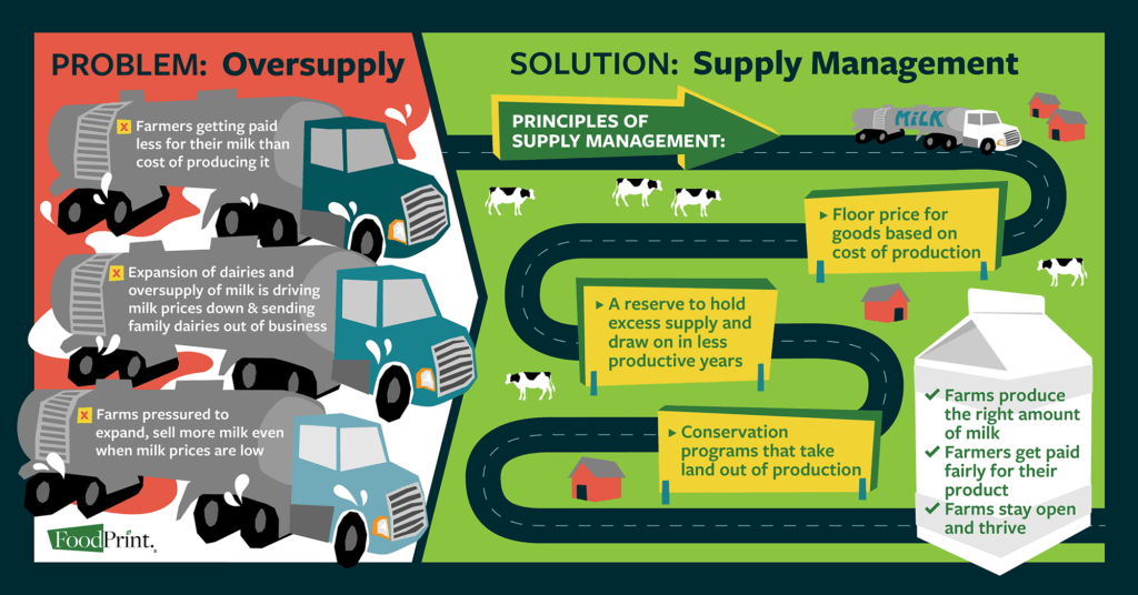 Infographic about supply management