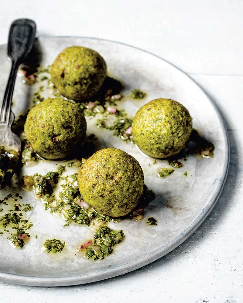 highlighting black vegan recipes with baked fonio and kale balls