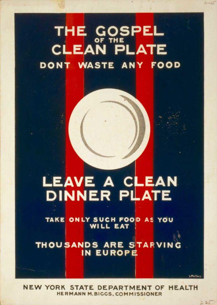 USDA food waste poster