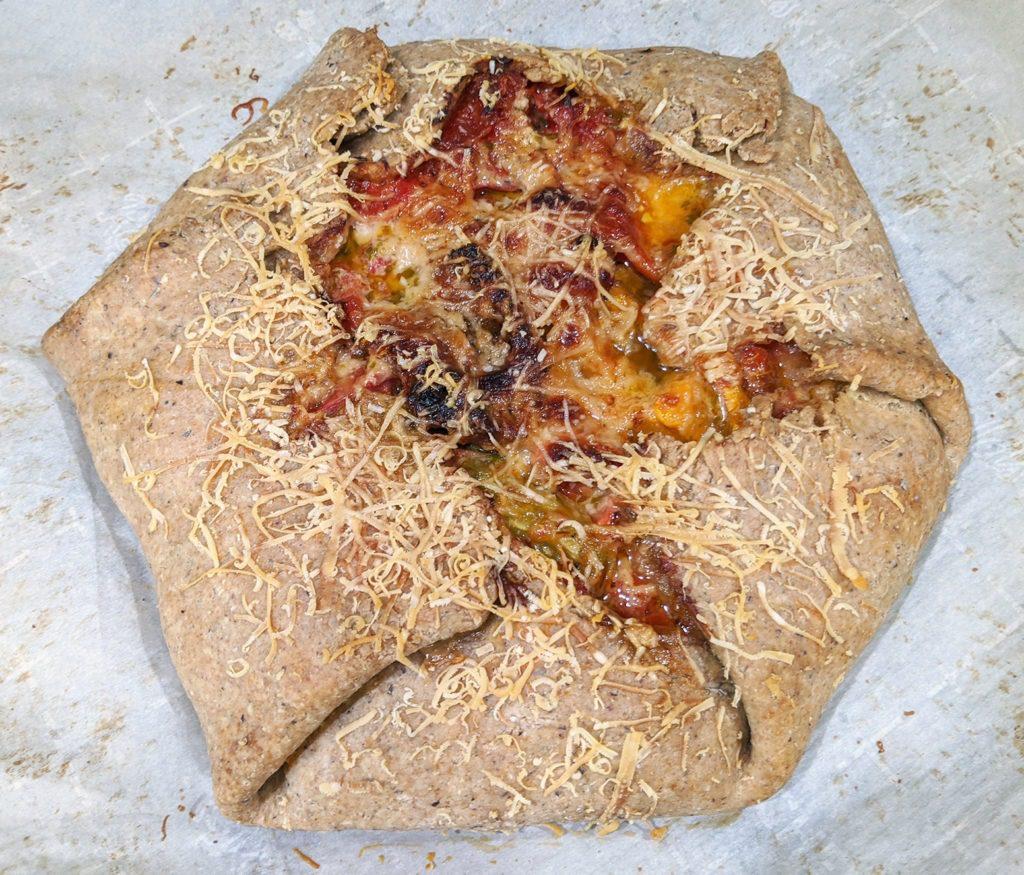 roasted heirloom tomato crostata